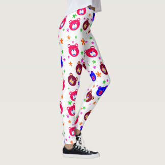 Cute Teddy Bear Girls  Leggings