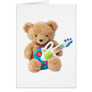 Cute Teddy Bear Guitar Greeting Card