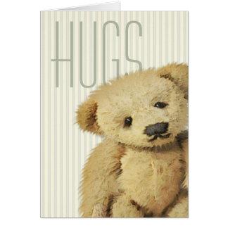 Cute Teddy Bear Hugs Greeting Card