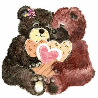 Cute Teddy Bear Love, Hearts and Hugs Photo Cutout