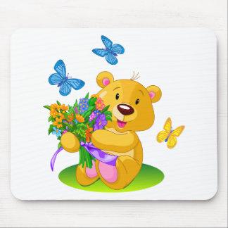 Cute teddy bear mouse mat