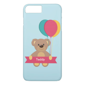 Cute Teddy bear Personalized Name Toug iPhone 7 Plus Case