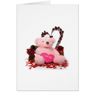 Cute Teddy Bear Products Greeting Card