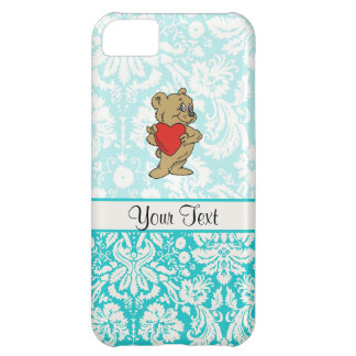 Cute Teddy Bear; Teal Case For iPhone 5C