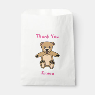 Cute Teddy Bear Thank You Name Favour Bags