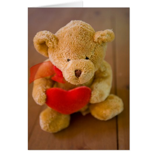 Cute Teddy Bear Valentine Card
