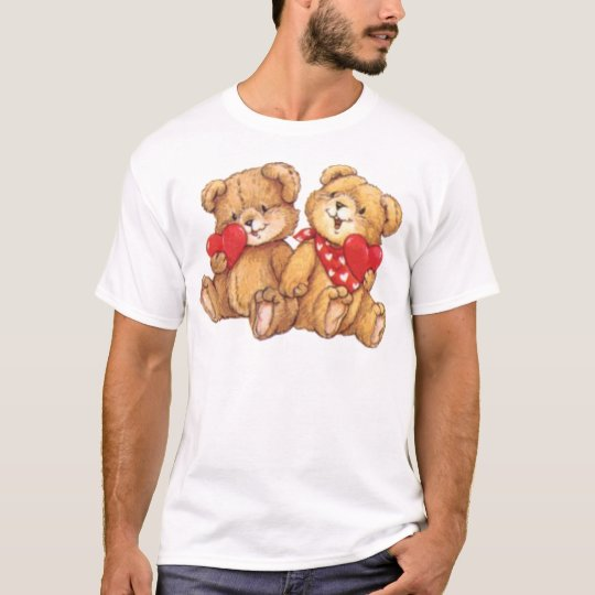Cute Teddy Bear Valentine Couple T-Shirt