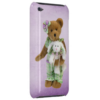 Cute Teddy Bear with Bunny Barely There iPod Case