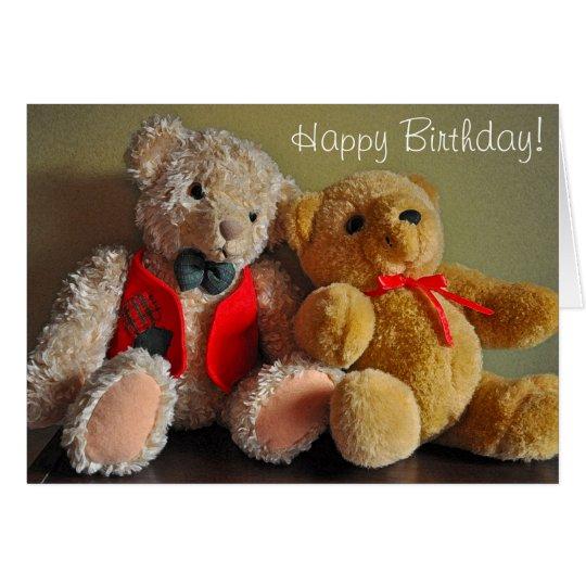 Cute teddy bears birthday card