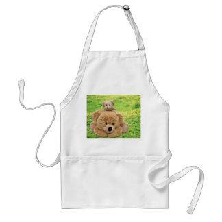 Cute Teddy Bears In A Meadow Apron