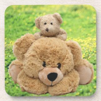 Cute Teddy Bears In A Meadow Coaster