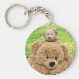 Cute Teddy Bears In A Meadow Key Chains