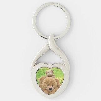 Cute Teddy Bears In A Meadow Key Chain