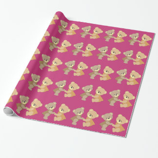 Cute Teddy Bears Pattern for Girl Wrapping Paper