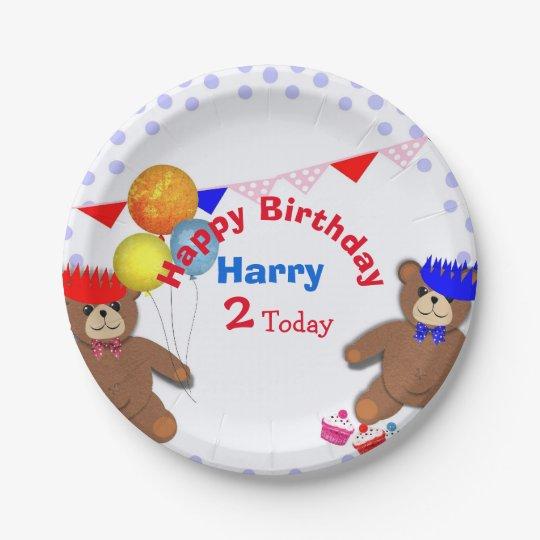 Cute Teddy Bears Picnic Fun Kids Birthday Party