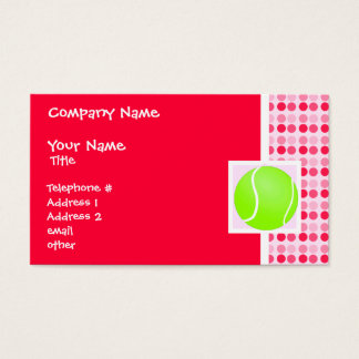 Cute Tennis Ball Business Card