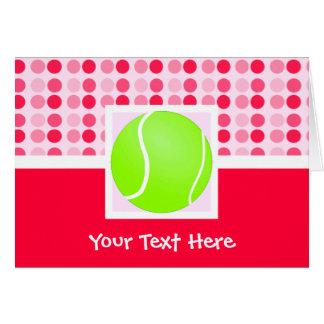 Cute Tennis Ball Greeting Card