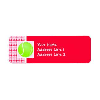 Cute Tennis Ball Return Address Label