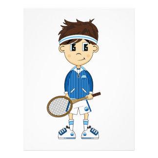 Cute Tennis Boy Flyer