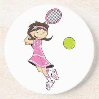 Cute Tennis Girl Coaster