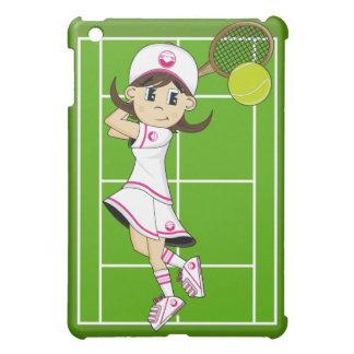 Cute Tennis Girl ipad Case