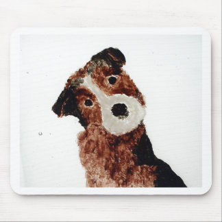 Cute Terrier Dog Art Mouse Pad