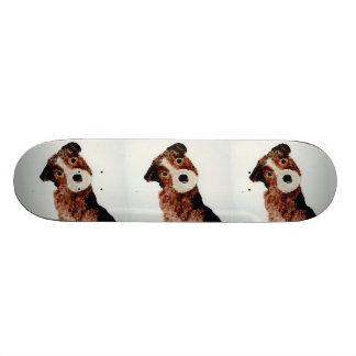 Cute Terrier Dog Art Skate Board