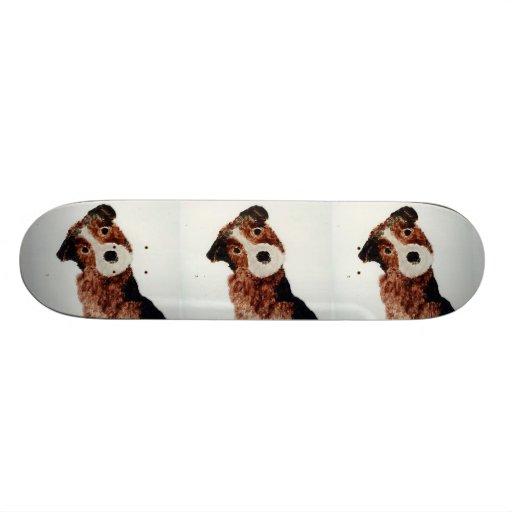Cute Terrier Dog Art Skateboards