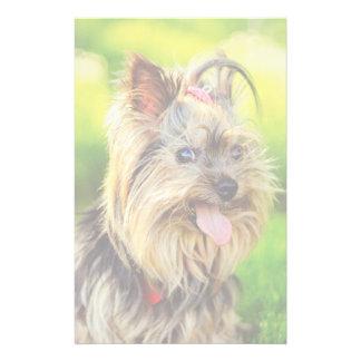 Cute terrier dog custom stationery