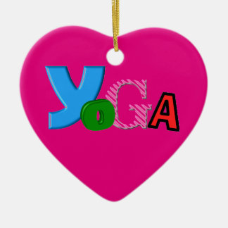 Cute Text Design - Yoga Christmas Ornament