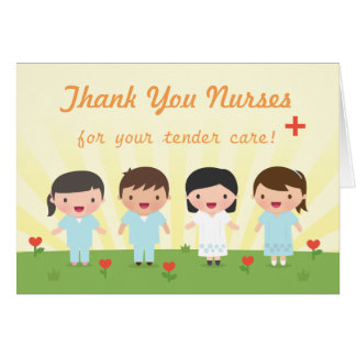 Cute Thank You Nurses Greeting Card