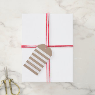 CUTE THANK YOU TAG modern stripe simple kraft