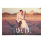 Cute Thank You White Overlay 13 Cm X 18 Cm Invitation Card