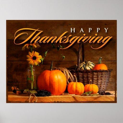 Cute Thanksgiving Pumpkin Poster