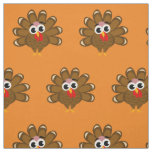 Cute Thanksgiving turkey cartoon pattern fabric