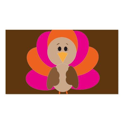 Cute Thanksgiving Turkey Fall Autumn Harvest Business Card