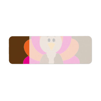 Cute Thanksgiving Turkey Fall Autumn Harvest Return Address Label