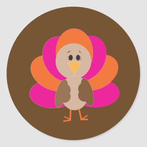 Cute Thanksgiving Turkey Fall Autumn Harvest Sticker