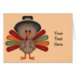 Cute Thanksgiving Turkey Greeting Card