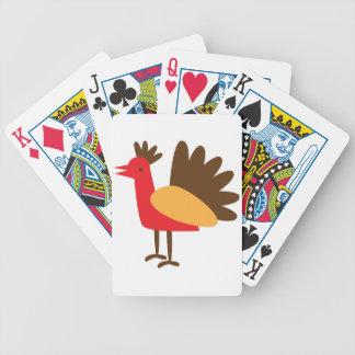 Cute thanksgiving turkey simple card deck