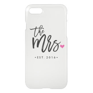 Cute The Mrs. (Est. Your Wedding Year) iPhone 8/7 Case
