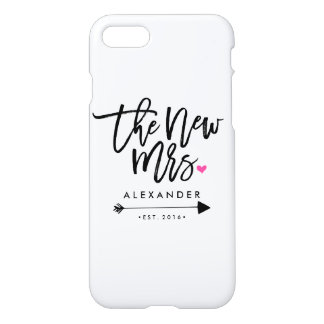Cute The New Mrs. (Name) (Est. Your Wedding Year) iPhone 7 Case