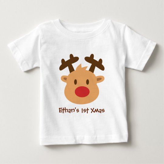 Cute the red nosed reindeer 1st Xmas Baby