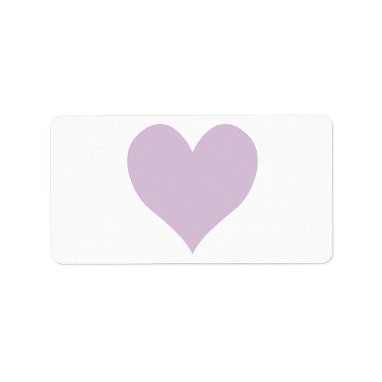 Cute Thistle Heart Address Label
