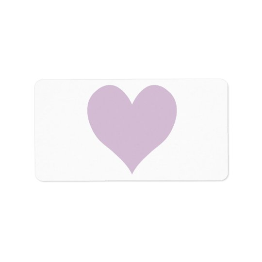 Cute Thistle Heart Label