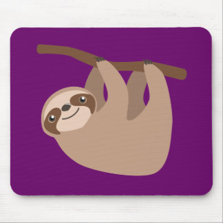 Cute Three-Toed Sloth Mouse Pad