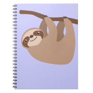 Cute Three-Toed Sloth Notebook