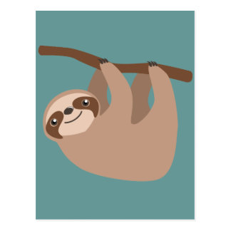 Cute Three-Toed Sloth Postcard