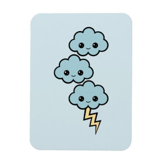Cute Thunder Clouds Magnet
