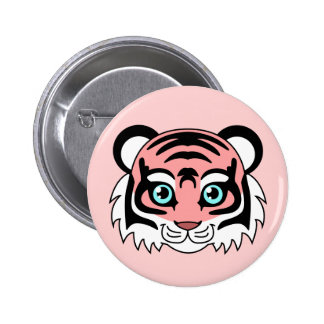 Cute Tiger Cotton Candy 6 Cm Round Badge